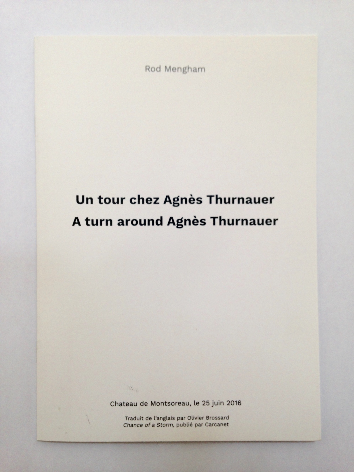 Representation of A turn around Agnès Thurnauer