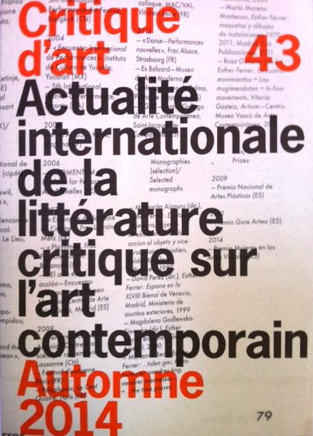 Representation of Critique d'art 43