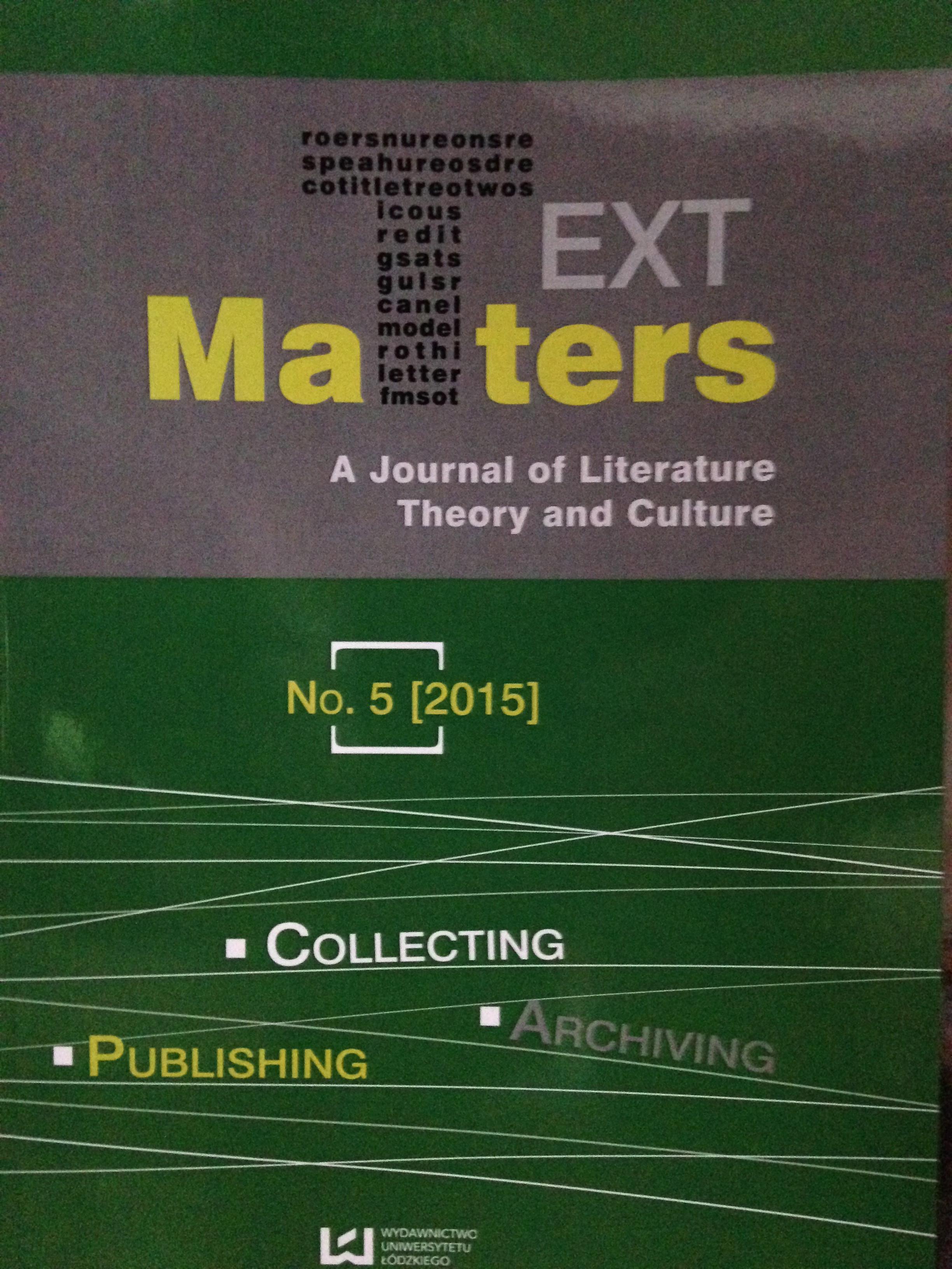 Representation of TextMatters- N°5-2015