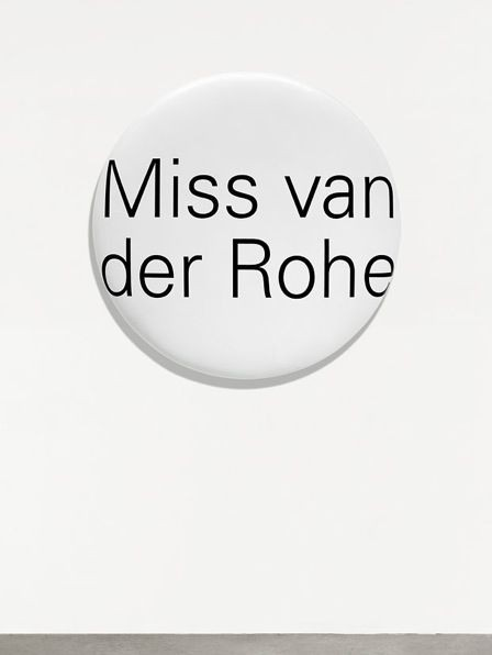 Representation of Portrait Grandeur Nature (Miss van der Rohe)